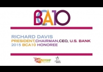 Embedded thumbnail for 2015 BCA 10: Richard Davis Accepts BCA 10 Honoree Award for U.S. Bank
